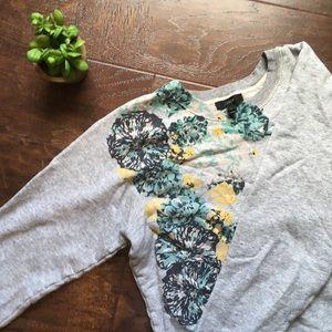[J. Crew] Floral Cute Spring Sweatshirt